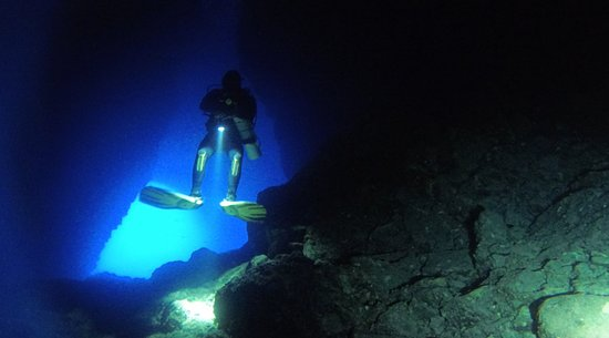 That blue color when exiting a cavern!
