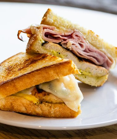 Grilled Chicken, ham, and Swiss cheese served on sourdough with a creamy Dijon mustard sauce.