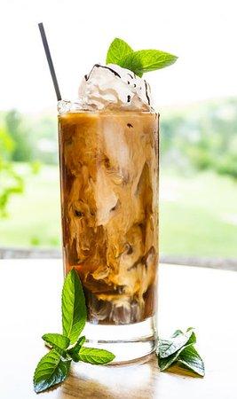 Mountain Iced Coffee - Jameson, Kahlua, and espresso.