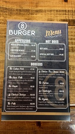 Our one of a kind Menu!