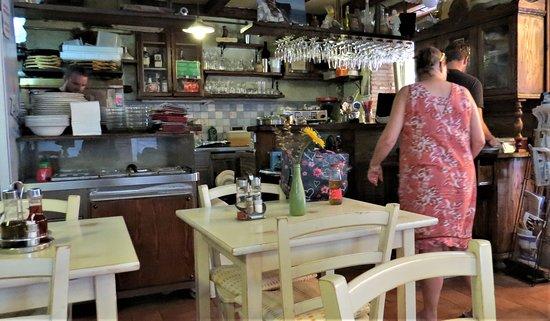 Inside looking toward kitchen