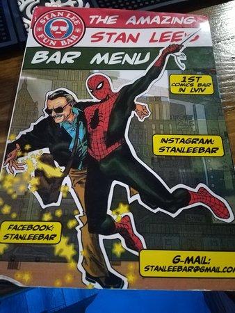 Stan Lee Fun Bar Lviv Menu Prices