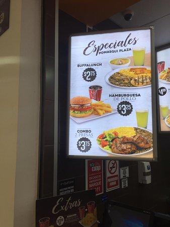 """Buffalo's: """"Hamburguesa de pollo"""", publicidad engañosa."""