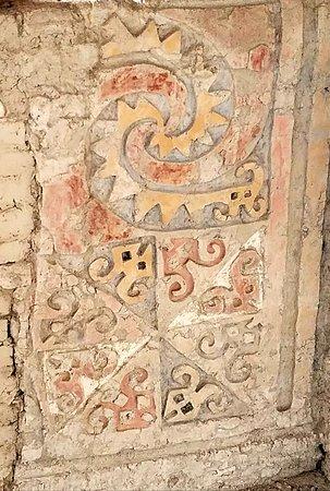 Museo Huacas de Moche: Detail from the Moche pyramids.