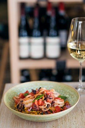 La Bottega Gastronomica: Strozzapreti with calamari, octopus, shrimp and fresh tomato concasse