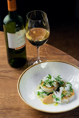 Baked Cod With Salicornia Cauliflower Clams Bottarga And Verdicchio Wine Sauce Picture Of La Finestra In Cucina Prague Tripadvisor