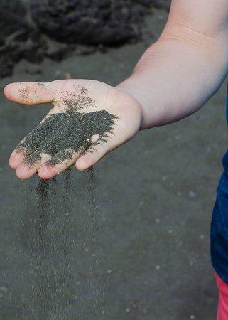 sand from black sand beach