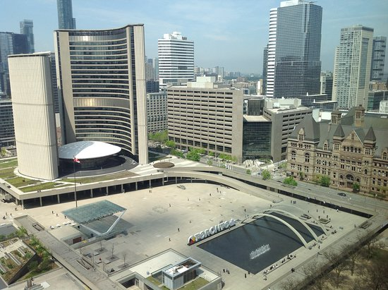 """Sheraton Centre Toronto Hotel: Picture of the """"New City Hall"""" taken from our room on the 24th floor"""