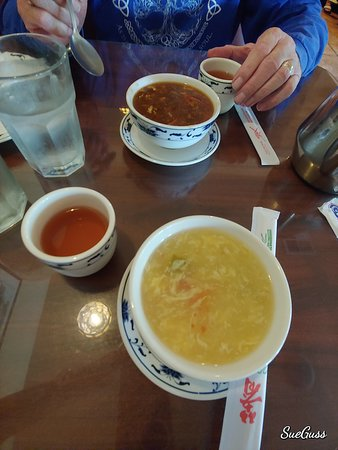 Hot & Sour Soup and Egg Flower Soup