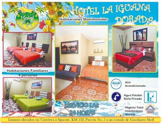 Sipacate, Guatemala: Hotel la Iguana Dorada
