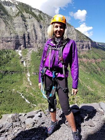 Telluride & Mountain Village, CO: Mountain Trip provides helmits, harnesses, carabiners... aand fantastic guides!