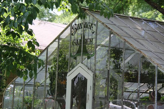 Old greenhouse; note the signage
