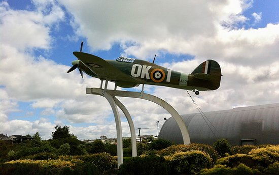 Museum of Transport and Technology: The Hawker Hurricane of Sir Keith Park stands guard at the entrance to the Museum. It is well worth making the journey out from the city centre.