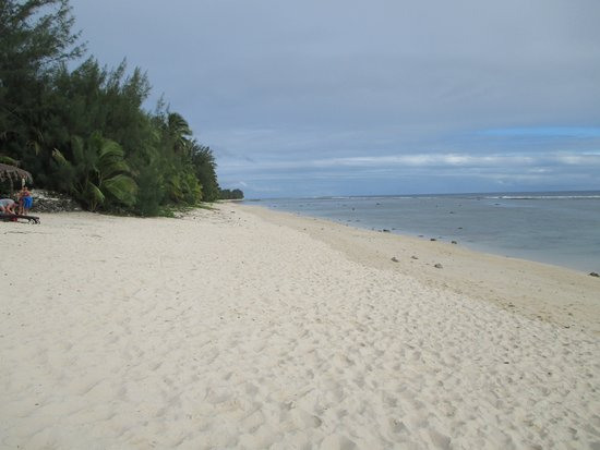 Manuia Beach Resort: Beach is mainly free of public and generally very private.  Very sheltered, lagoon and great sunsets