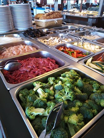 Fresh ingredients for your personal wok choice