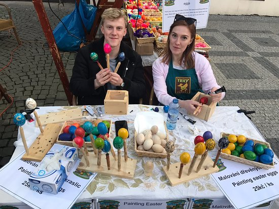 ‪Farmers Market in Prague 1‬