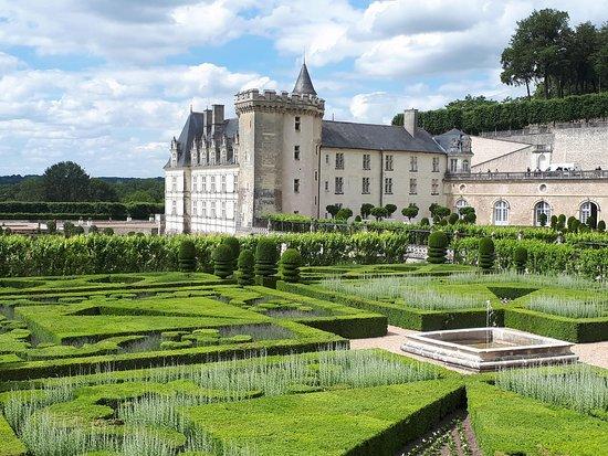 Skip the Line: Chateau de Villandry and Gardens Admission Ticket: вид из сада на замок