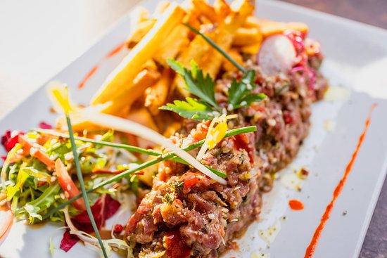 Restaurant La Chapelle: Tartare au couteau, façon Thai © Hervé Leclair/Aspheries.