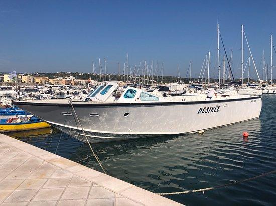 Desirèe coastal trips. Tour to visit the marine caves of Vieste: Barca