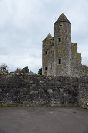 The outer walls and towers