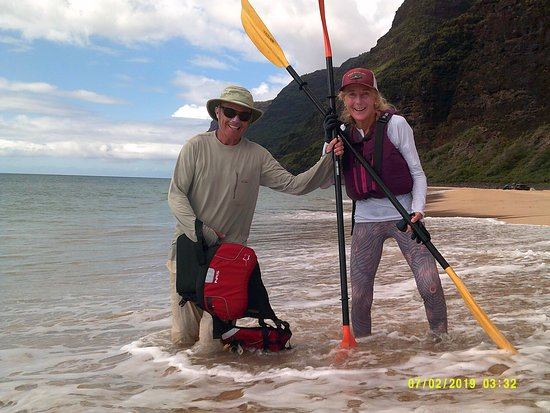 Hanalei, HI: At the end of the paddle
