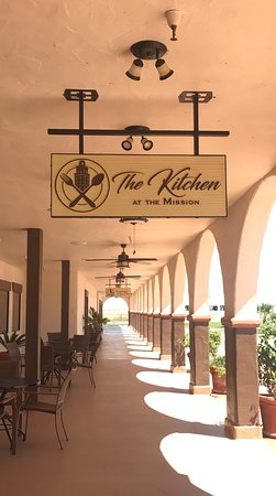 Entrance to the restaurant