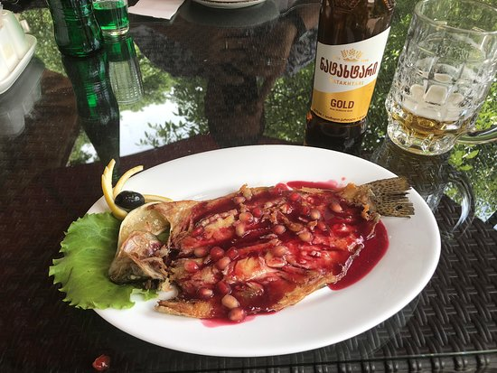Trout in pomegranate sauce!