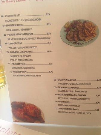 Los Criollos: more menu