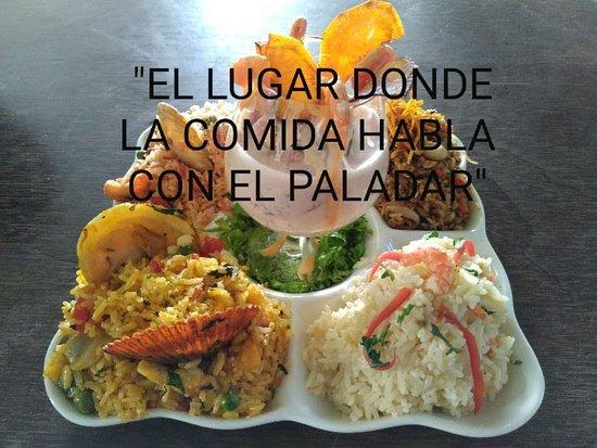 FESTIVAL de arroz (arroz con mariscos + paella de mariscos + chaufa de mariscos + risotto de langostino + Ceviche de tollo)