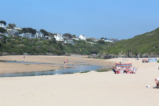 Crantock beach at low tide, view away from sea