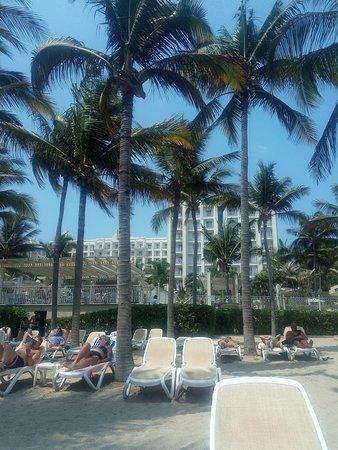 View from beach, beautiful Art deco hotel ...