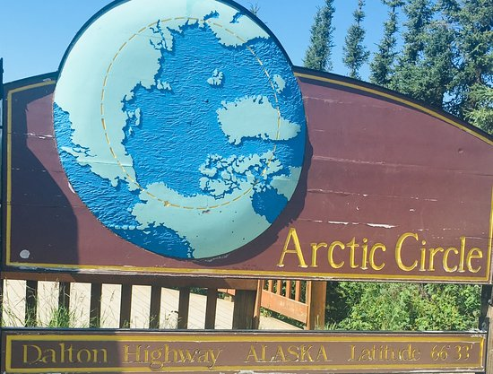 This is the place where you get your certificate for crossing the Arctic Circle on the way to Wiseman