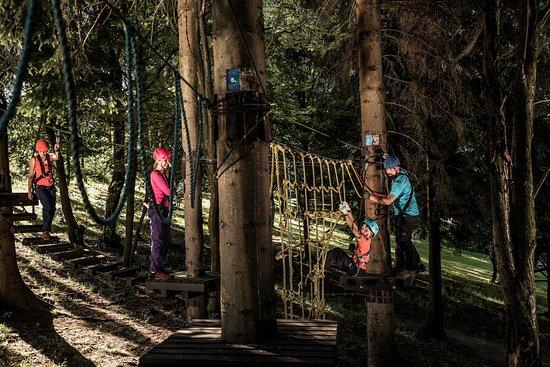 Kliny , Repubblica Ceca: Rope park Sport areál Klíny