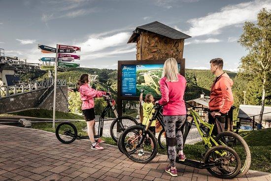 Kliny , Repubblica Ceca: Bikepark and downhill scooters in Sport areál Klíny