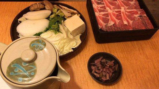 豚ロースすき焼定食 と バースデーアイスケーキ🍨 (2019/06/30)