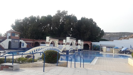 Marruecos: Blue skies, picturesque gardens  sandy beaches and swimming....#favouritethings