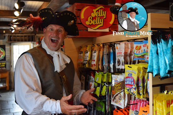 The Black Parrot Candy Shoppe is one of Pirate Mike's favorite places for snacks...stop # 3!