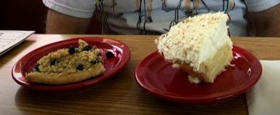 Blueberry Crumble and Coconut Cream Pie
