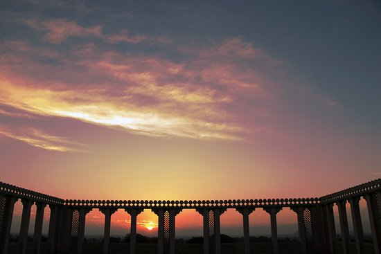 Mesmerizing sunrise at Eco Dera Chandsen Resort