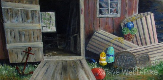 Lorneville, Canada: Fishing Shed - Acrylic