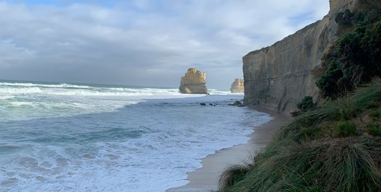 Small Group - 12 Apostles, Otways & Great Ocean Road Day Tour from Melbourne: The base of Gibson Steps