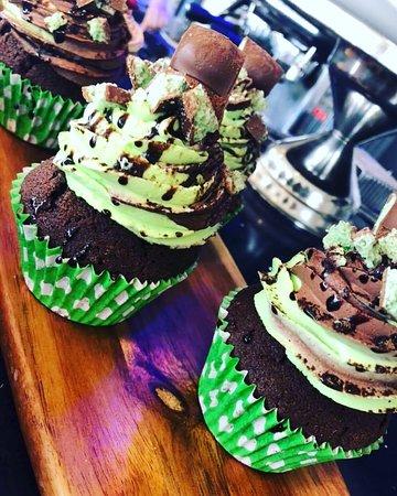 Mint aero Cup cakes