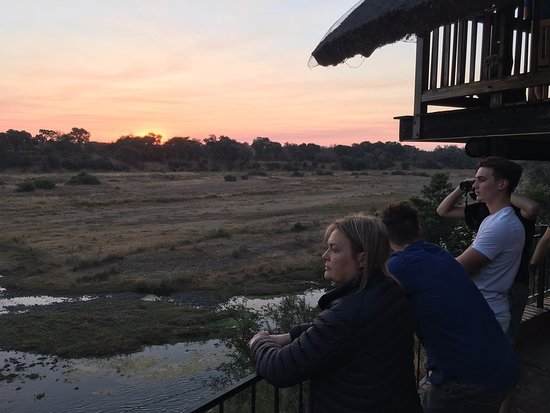 Amazing Kruger View Restaurant: Saw Hyena, waterbuck, elephant, crocs and more from the deck