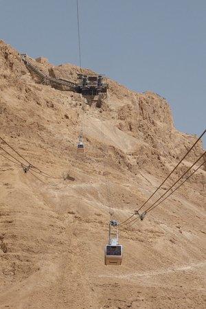 Masada .funicolare per raggiungere la fortezza