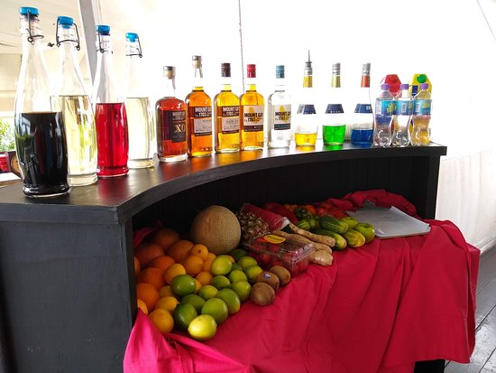 Mount Gay Signature Rum Tasting in Barbados: Beautiful set-up for a mixology class (not part of our tasting tour - we thought it looked great)