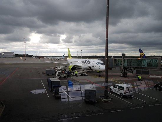 אייר בלטיק: Airbus A220-300 Air Baltic in Riga Airport