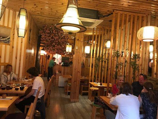 Interior of environment plain wood dec