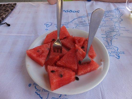 Wassermelone auf Haus