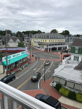 View of Main Street and The Goldenrod from balcony