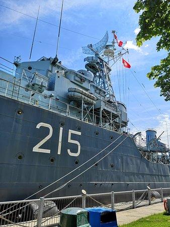 HMCS Haida at her dockside berth - never to sail again.